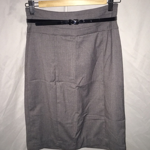 84e56782545f H&M Skirts | Hm Grey Pencil Skirt With Belt | Poshmark